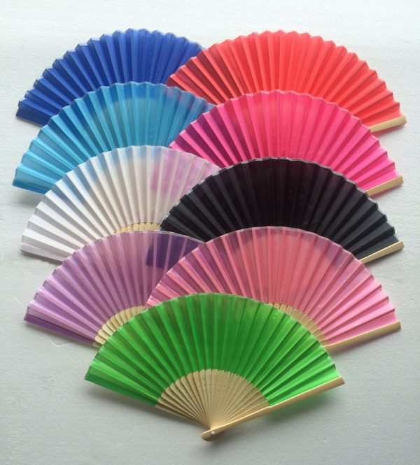 mix colours silk fans folding fan cheap