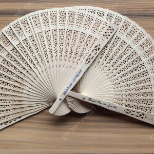 Personalised sandalwood fans wedding fans bridal favours hen night party decorations