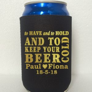 Personalised-wedding-gold-print-koozies-can-cooler-stubby-holders-wedding-favors-gifts