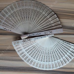 Personalized sandalwood fans wooden fan wedding gifts birthday gifts