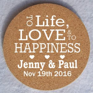 coaster printing wedding coasters bespoke promotional gifts idea