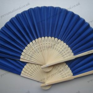 dark blue wedding silk fan bulk cloth fans UK