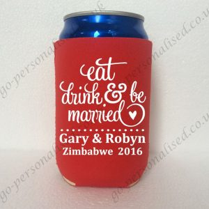personalized beer neoprene  can holders hens night wedding favours