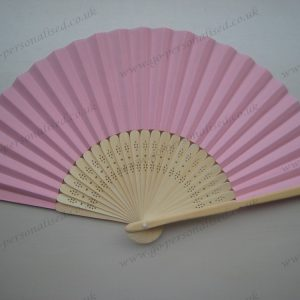 Solid pink paper fan hand fan bridal wedding hen night favours gifts idea