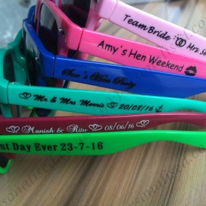 custom sunglasses uk personalised wedding sunglasses favours hen night gifts bridal gift idea