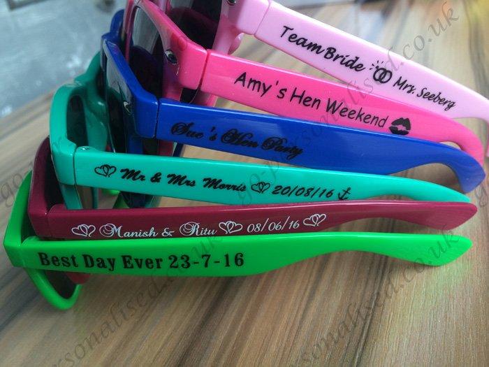 5112b01772 custom sunglasses uk wedding favours hen night gifts bridal gift idea