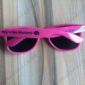 printed wayfarer custom sunglasses hens party bridal gifts
