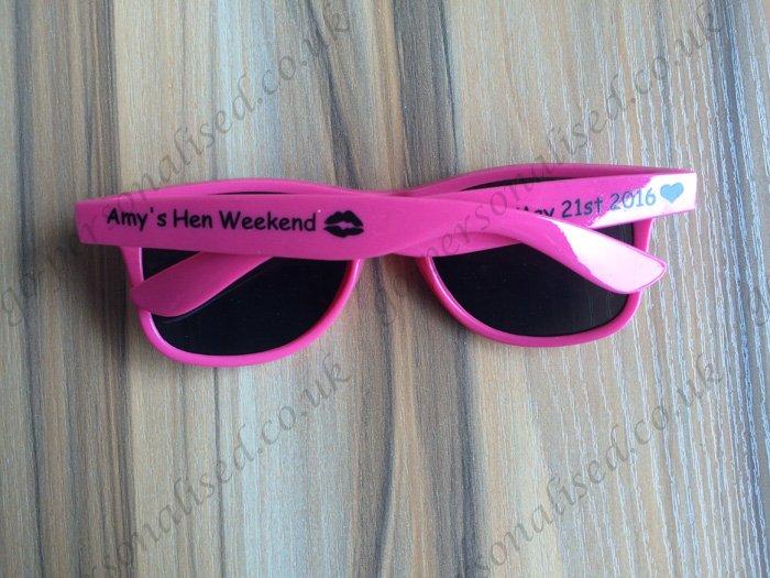 7d34b5a5ff custom printed wayfarer sunglasses hens party bridal gifts – Gifts ...