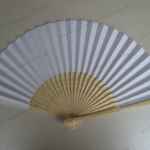Wedding decoration fan white bamboo paper fan free postage graduation bridal gifts idea