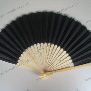 wholesale bulk black silk fans  funeral decorations