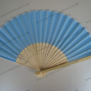 Blue wedding silk fan light blue fans hand fan