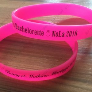 personalised silicone wristbands bracelets Baptism football gifts wedding favours
