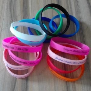 custom silicone wristbands custom made bracelets wedding Invitation Save The Date gifts bridal party decorations