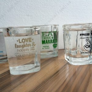 personalized shot glasses bridal gifts wholesale bulk drink table decorations hen night weekend favours