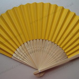 deep yellow paper fan save the date wedding invitation gifts