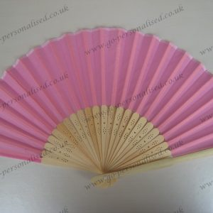 Pink wedding silk fan wholesale silk fans free postage no hidden cost