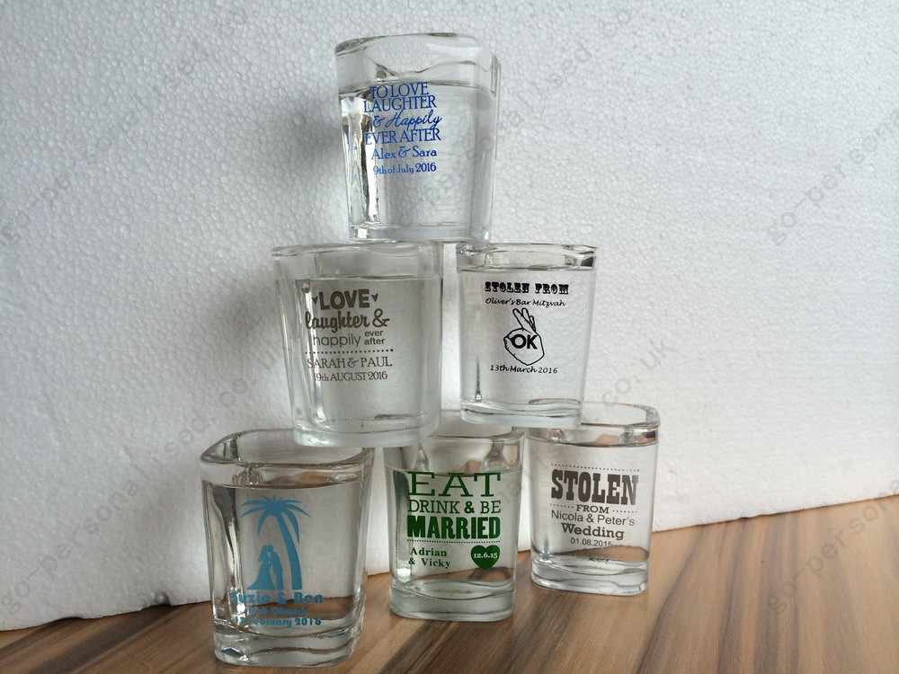 Personalised Shot Glasses Cheap Wedding Favours Bulk Gifts Supply