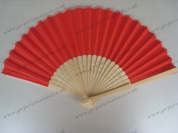 red-inexpensive-wedding-silk-fan
