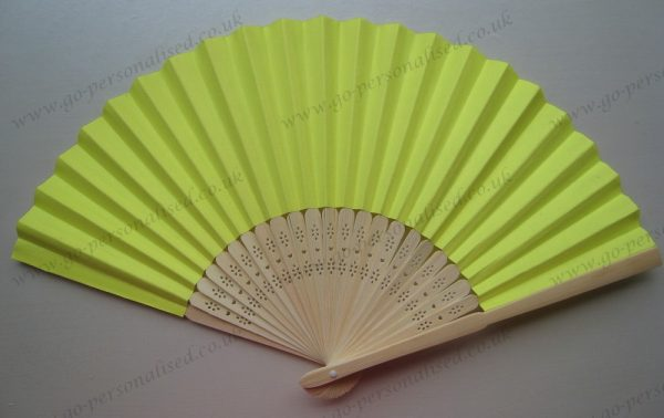 yellow-folding-paper-fan-free-postage-college-party-birthday-party-bulk-cheap