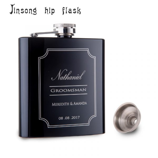 Personalized-Best-Man-gift-of-6oz-black-stainless-steel-hip-flask-Groom-gift-Best-man-gift-4