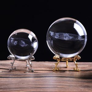 Solar System Crystal Ball Planets Glass Ball Laser 3d Engraved Globe Miniature Model Ornament graduation pupil gifts Home Decor Astronomy Gift
