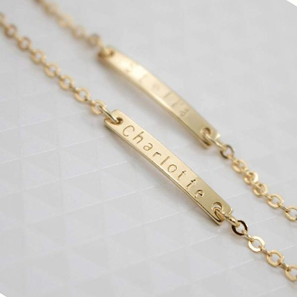 4-Chain-Baby-Name-Bar-ID-Bracelet-Gold-Hand-Chain-Stainless-Steel-Custom-Engraved-Nameplate-Personalized-2