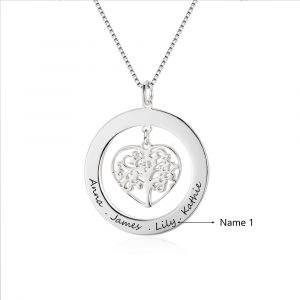 Engrave Name Necklace 925 Sterling Silver Necklaces Pendants birthday gifts best friends bridal hen night gifts favours