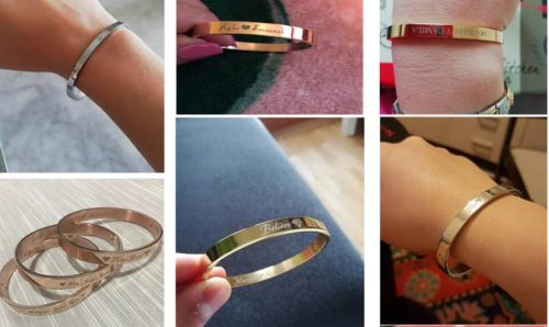 Personalized-Bracelet-For-Women-Female-Custom-Engraved-Name-Rose-Gold-Bangles-Stainless-Steel