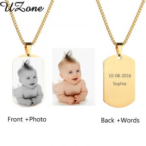Custom Engraved Necklace Personalized Photo & Name Necklace baptism baby gifts
