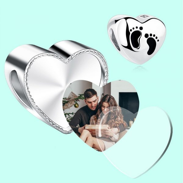 2018-Personalized-925-Sterling-Silver-Heart-Photo-Charms-Fit-Pandora-Bracelet-Engravable-Customize-Photo-Love-Beads-3