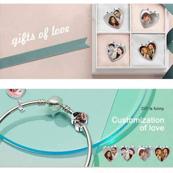2018-Personalized-925-Sterling-Silver-Heart-Photo-Charms-Fit-Pandora-Bracelet-Engravable-Customize-Photo-Love-Beads-5