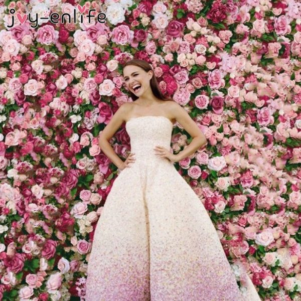 40x60cm-Silk-Rose-Flower-Champagne-Artificial-Flower-for-Wedding-Decoration-Flower-Wall-Romantic-Wedding-Backdrop-Decoration