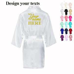 Personalized bride robes Bridal gorgeous robe Bachelorette party favors gifts braidsmaid crew robes