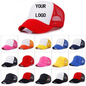 Cheap  personalised Baseball Cap Polyester Men Women Blank Mesh Adjustable Hat Adult Children Kids school day birthday gifts summer favors