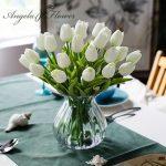 Free-shipping-31PCS-LOT-pu-mini-tulip-flower-real-touch-wedding-flower-bouquet-artificial-silk-flowers