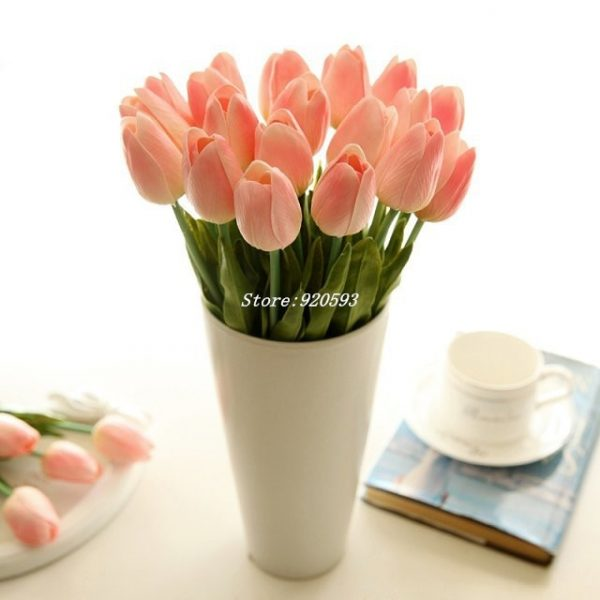 Free-shipping-31PCS-LOT-pu-mini-tulip-flower-real-touch-wedding-flower-bouquet-artificial-silk-flowers-2