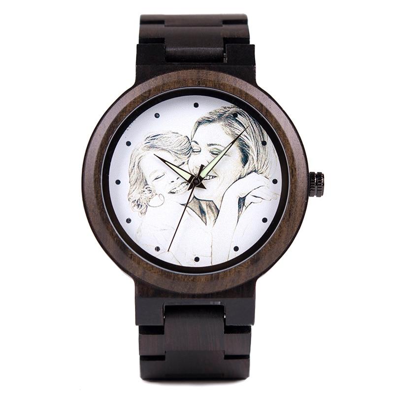 Customize Wooden Watch Customization Laser Print bridal ...