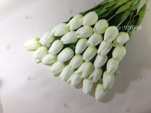 httpwedding-flower-bouquet-artificial-silk-flowers-31pcs-mini-tulip-flower-real-touch-for-home-party-decoration-bachelorette-prom-decorations-whitw