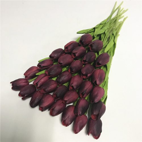 wedding-flower-bouquet-artificial-silk-flowers-31pcs-mini-tulip-flower-real-touch-for-home-party-decoration-bachelorette-prom-decorations-purple-b
