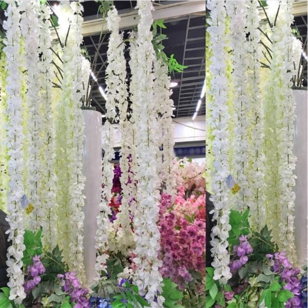 1-meter-long-Elegant-Handing-Orchid-Silk-Flower-Vine-White-Wisteria-Garland-Ornament-for-Festival-Wedding-1