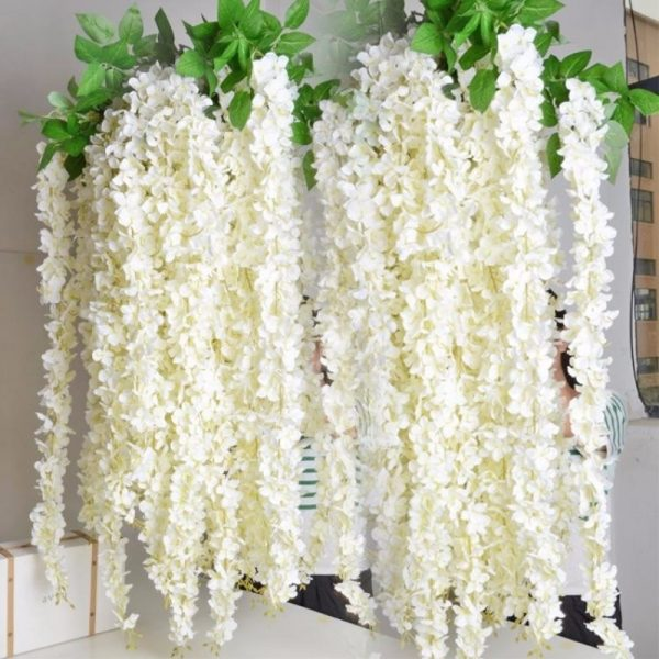1-meter-long-Elegant-Handing-Orchid-Silk-Flower-Vine-White-Wisteria-Garland-Ornament-for-Festival-Wedding-2