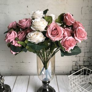 large 10 Heads big Artificial rose flower bouquet  fake flowers bridal shower  reunion supply
