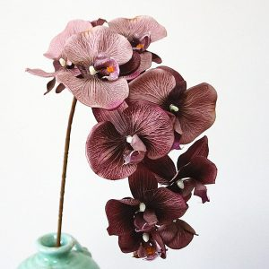 10Heads big Artificial Orchid Flowers European Retro style Moth Butterfly Orchids Home Wedding Party Decoration