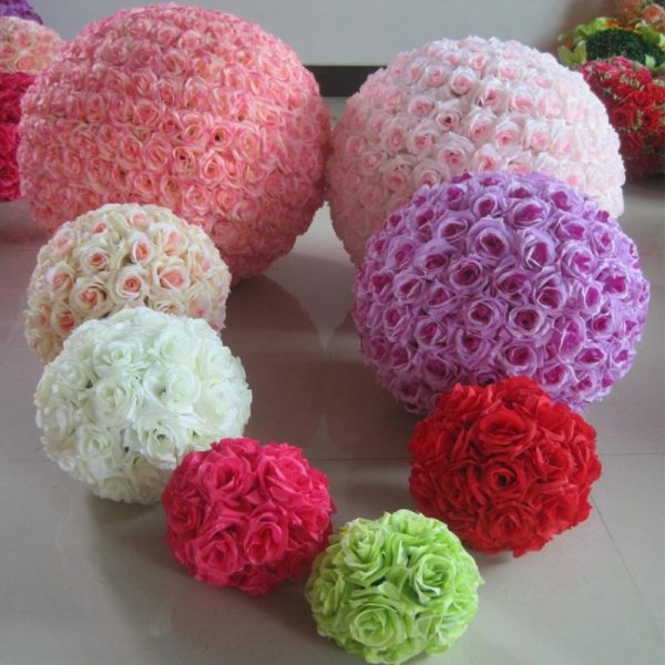 16-40CM-Big-Size-Kissing-Balls-Artificial-Encryption-Rose-Silk-Flower-Ball-Ornament-for-Wedding-Festival-2