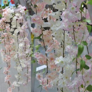 bulk cheap 180cm Sakura Cherry blossom Rattan Artificial flowers for Home party Wedding decoration