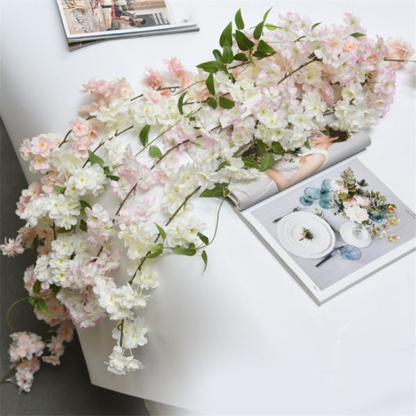 180cm-Sakura-Cherry-blossom-Rattan-Artificial-flowers-for-Home-party-Wedding-decoration-Silk-Ivy-Vine-wall