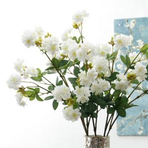 18Heads Cherry blossoms flower branch Artificial Flowers Christmas home wedding decoration fake Flower