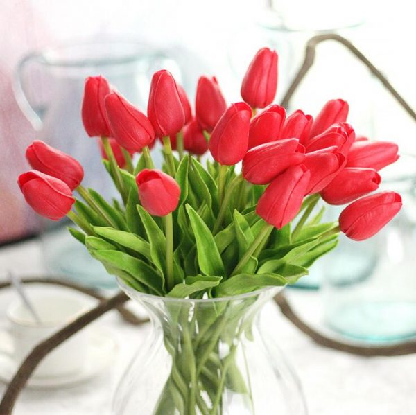 1Pc-Artificial-tulips-Flower-for-spring-home-wedding-decoration-flores-Cheap-PU-Fake-flowers-Artificiales-white-4