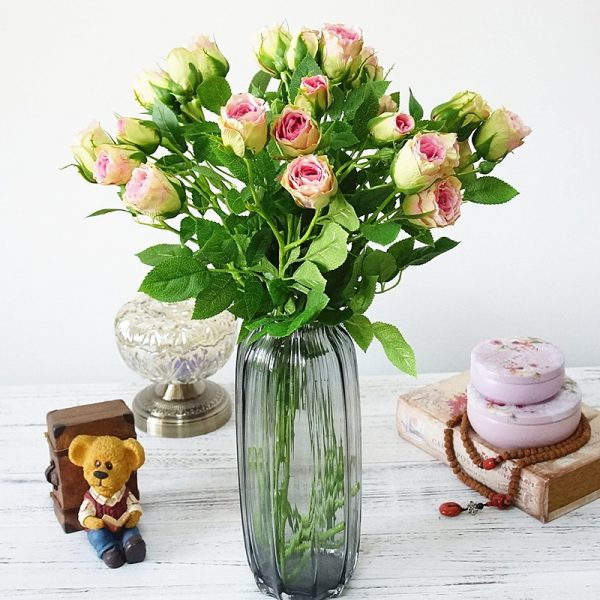 2018-decorative-4Heads-Artificial-rose-branch-silk-plastic-flores-Simulation-rose-flowers-for-home-hotel-wedding-1