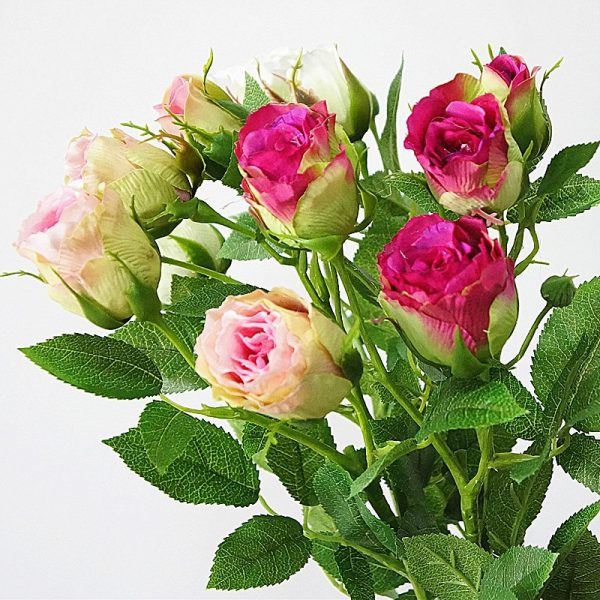 2018-decorative-4Heads-Artificial-rose-branch-silk-plastic-flores-Simulation-rose-flowers-for-home-hotel-wedding-2